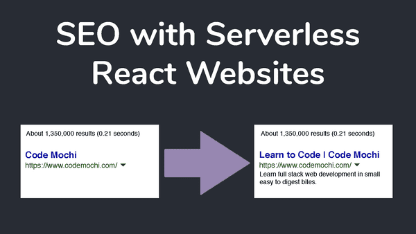 A Definitive Guide to SEO with a Serverless React Application in 2019